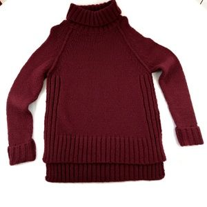 NWT RUBY MOON Red Cowl Neck Knot Sweaters Sz. M